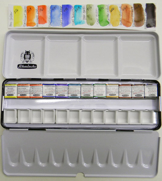 The new 2013 Schmincke Half-pan Watercolor Set!