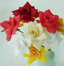 Roses Handcrafted Crepe Paper Flowers Demonstration With Anna
